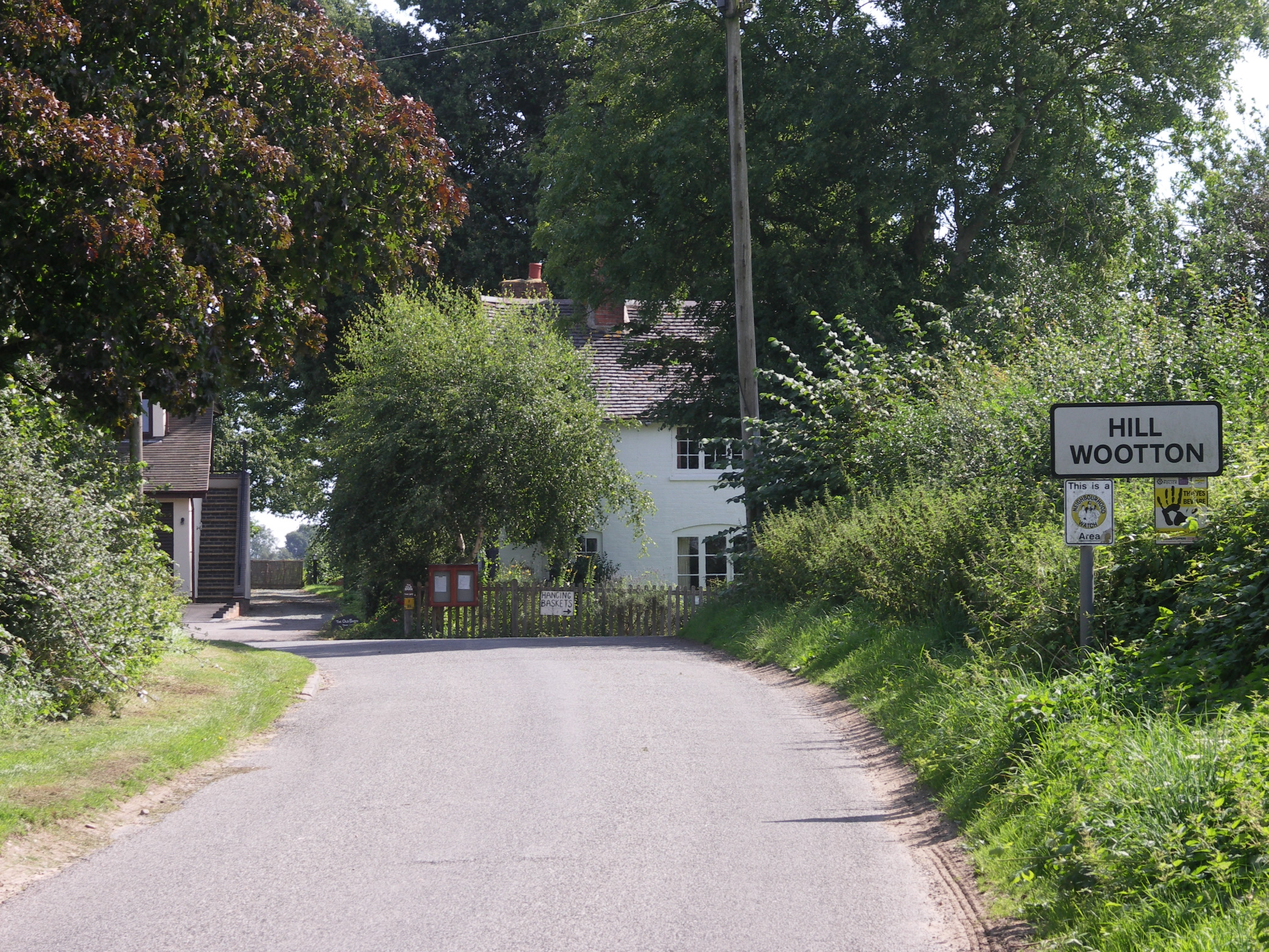 Approach to Hill Wootton