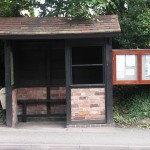 Bus shelter on Warwick Road (Warwick bound)